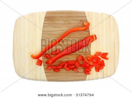 Sliced And Diced Red Pepper