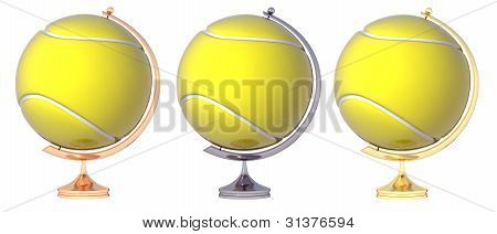 Abstract Tennis Ball Globe