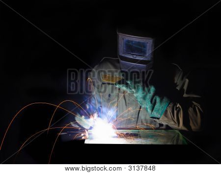 Welder At Work Background