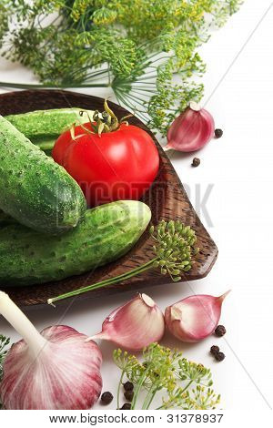 Pickling Cucumbers And Spices