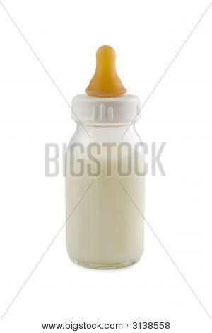 Baby Bottle Isolated On White Background, Stock Photo