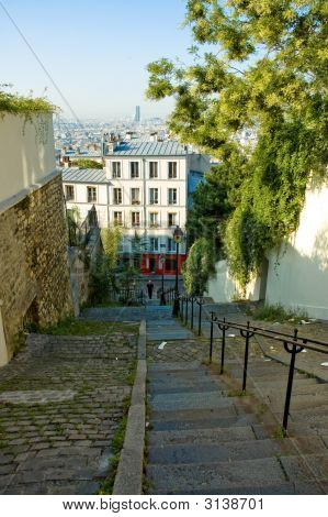 Little Alley Going Down From Montmartre