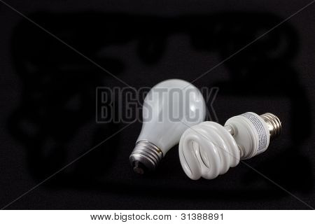 Old and New Light Bulb