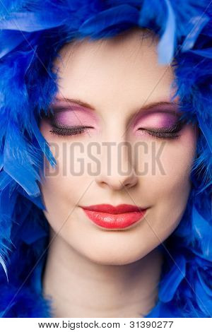 Very Colorful  Makeup Display.