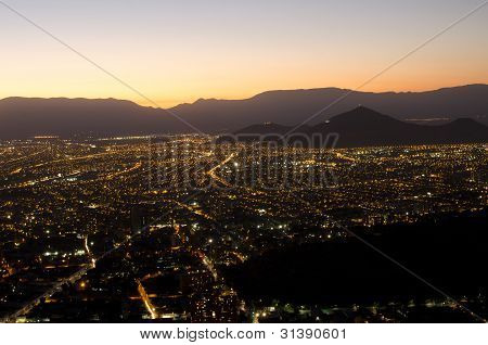 The City At Night, Among The Mountains