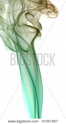 Colorful Smoke In White Back