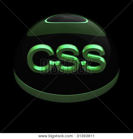 3D Style file format icon - CSS