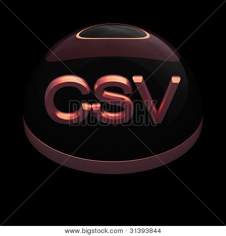 3D Style file format icon - CSV