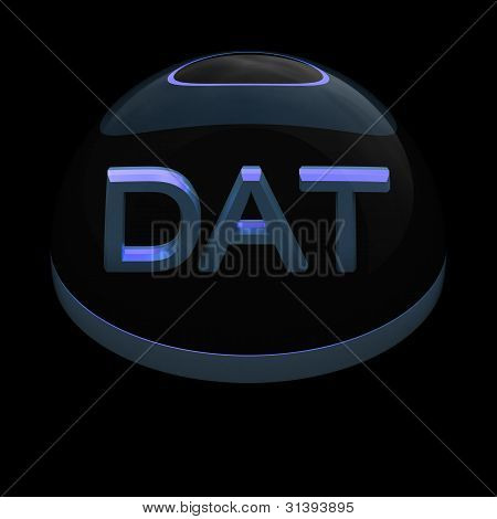 3D Style file format icon - DAT