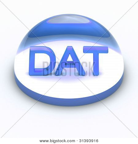 Icono de formato de archivo de estilo 3D - DAT