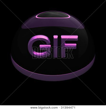 Icono de formato de archivo de estilo 3D - GIF