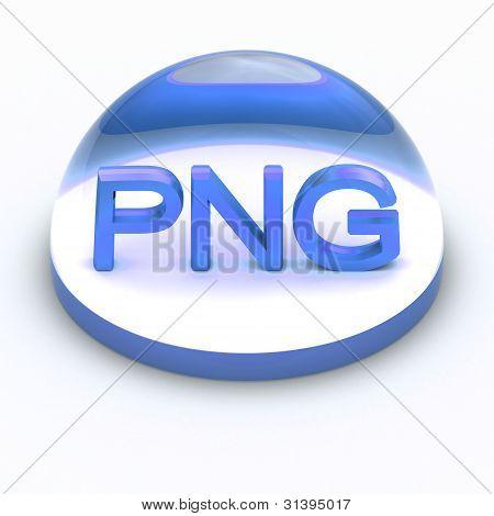 Icono de formato de archivo de estilo 3D - PNG