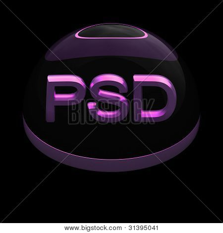 3D Style file format icon - PSD