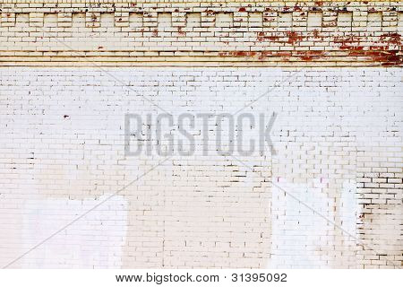 Grunge Covered Brick Wall Background Texture