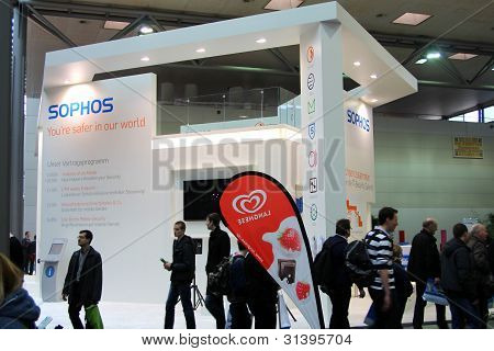 Hannover, Germany - March 10: Stand Of Sophos On March 10, 2012 In Cebit Computer Expo, Hannover, Ge
