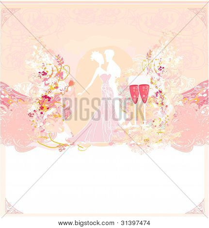 Ballroom couple dancers - invitation