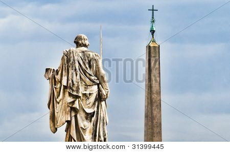 Detail From St. Peter's Square In The Vatican, Rome.