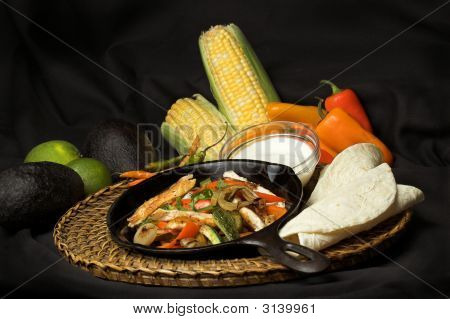 Fajitas And Ingredients