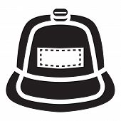Rap Cap Icon. Simple Illustration Of Rap Cap Icon For Web Design Isolated On White Background poster