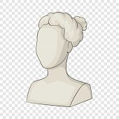 Sculpture Head Of Woman Icon. Cartoon Illustration Of Sculpture Head Of Woman Icon For Web poster