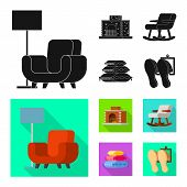Vector Design Of Comfort And Equipment Symbol. Collection Of Comfort And Furniture Stock Symbol For  poster