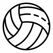 White Volleyball Ball Icon. Outline White Volleyball Ball Icon For Web Design Isolated On White Back poster