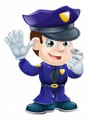Polizist Character Illustration cartoon