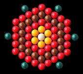 Colorful Snooker Balls Arrange In Hexagonal Shape