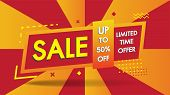 Sale Banner Template Geometric Abstract Shape Design With 50% Big Sale Special Discount Promotion Of poster