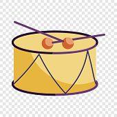 Drum And Drum Sticks Icon. Cartoon Illustration Of Drum And Drum Sticks Vector Icon For Web poster