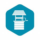 Water Well Icon. Simple Illustration Of Water Well Vector Icon For Web Design poster