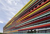 foto of modern building  - The colorful facade of a building of the Hogeschool van Utrecht - JPG