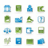 Stock exchange and finance icons