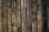 Dark Brown Wall of Wood Planks as Background