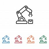Robotic Arm Icon Isolated On White Background. Robotic Arm Icon In Trendy Design Style. Robotic Arm  poster