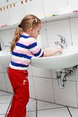 Child Washing Hands poster