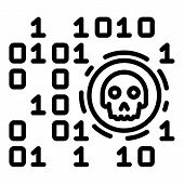 Malicious Code Icon. Outline Malicious Code Icon For Web Design Isolated On White Background poster