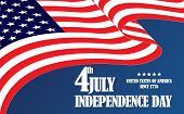 Independence Day American  Flag 4 July. Fourth Of July  Amercan Flag Independence Day. American Four poster