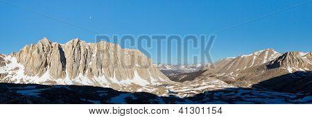 Sierra Nevada Peaks Panorama