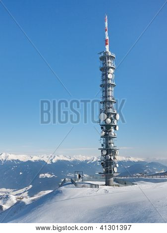 Radio Tower On A Mountain Summit