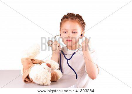 Beautiful Little Doctor Girl