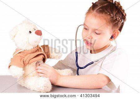 Happy Little Doctor Girl