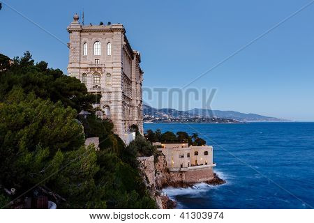 View Of Oceanographic Museum Of Monaco. Monte Carlo, France