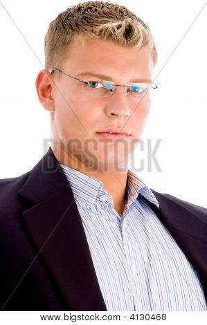 American Man Looking At Camera