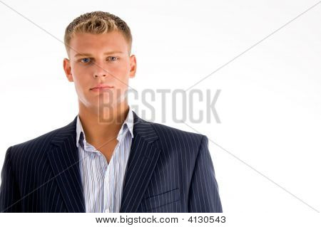 Portrait Of Caucasian Male Looking You