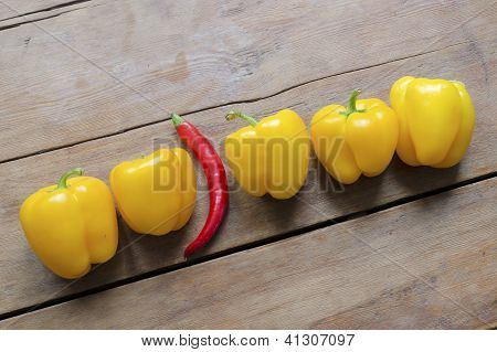 Hot And Sweet Peppers
