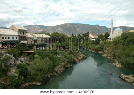Mostar. Old Town. Unesco Site.