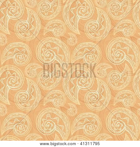 Light ethnic vector seamless pattern
