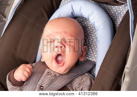 Adorable Baby Yawning
