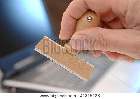 blank rubber stamp